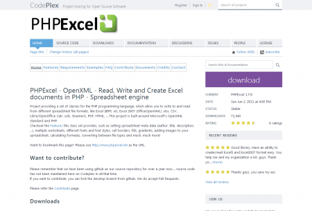 PHPExcel Home